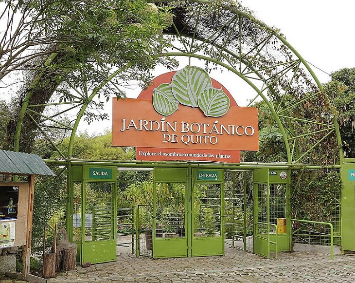 Photo gallery of the Quito Botanical Garden in Ecuador, At the entrance of the Quito Botanical Garden
