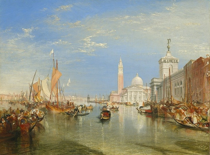 "J.M.W. Turner Paintings,""Venice -The Dogana and San Giorgio Maggiore"" (1834)"