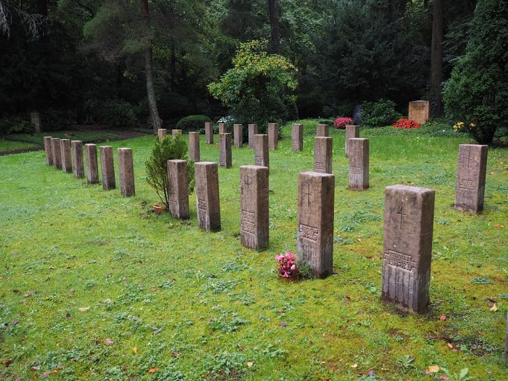 Weird and bizarre facts about the human body, Cemetery during the day with rows of headstones