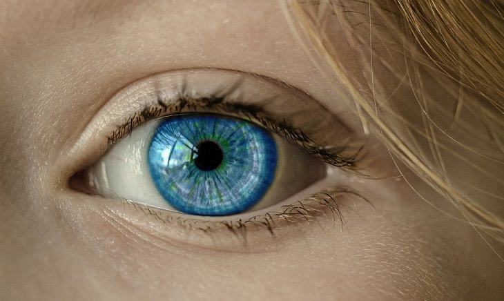 Weird and bizarre facts about the human body, Close-up of a blue eye