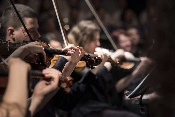 Best online free courses, classes, and lessons for seniors, Violinists in an orchestra playing