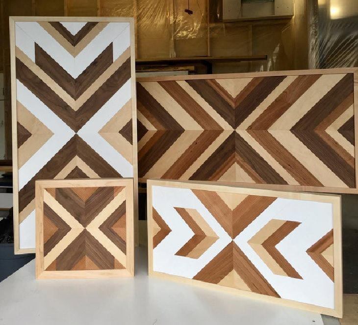 Wood masterpieces made by amateurs and experts, Multipatterned wooden panels