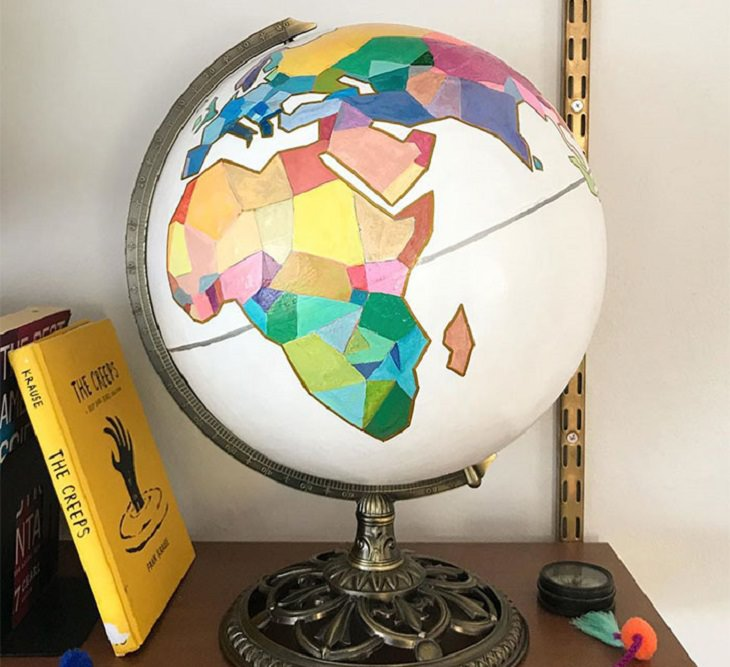 Quarantine DIY and homemade projects, Colorful homemade globe