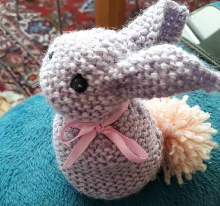 Quarantine DIY and homemade projects, Knitted bunny