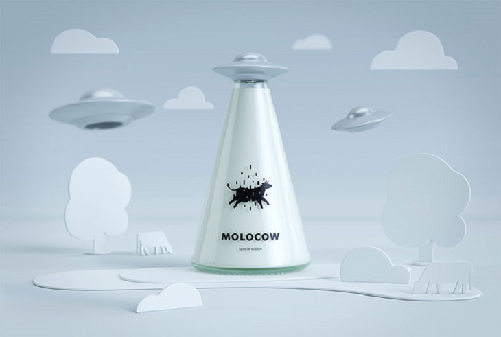 Products with unique and creative packaging, Molocow Milk