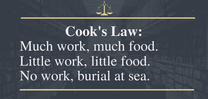 funny laws, cook's law