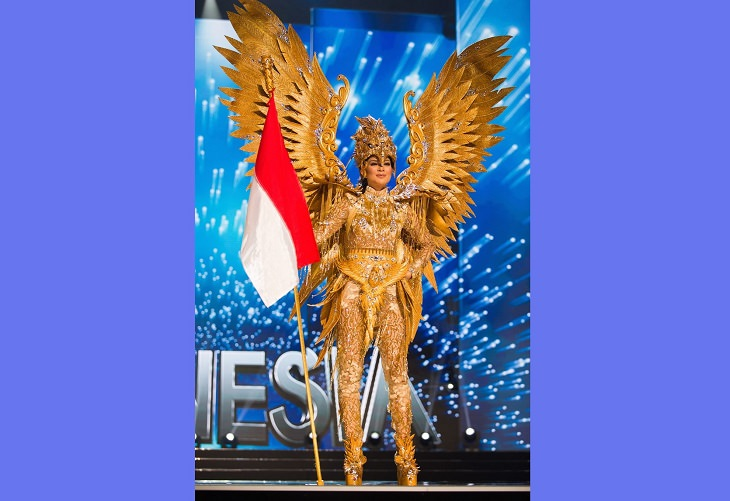 Magnificent, impressive and creative dresses and outs for the Miss Universe National Costume Show of 2017, 2018 and 2019, Kezia Warouw, Miss Indonesia, 2017