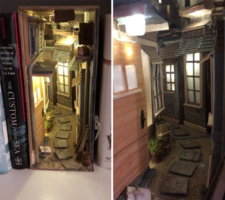 beautiful miniature worlds and designs for book nooks and bookshelf inserts
