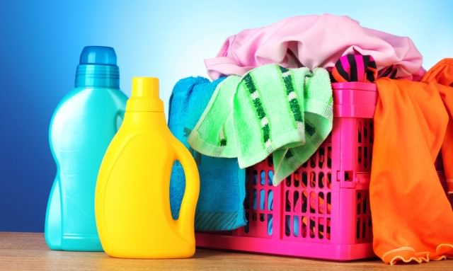 laundry tools and bottles