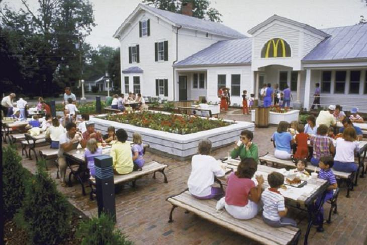 Different unique and innovative McDonald's restaurants across the world, 1850's Mansion in Freeport, Maine
