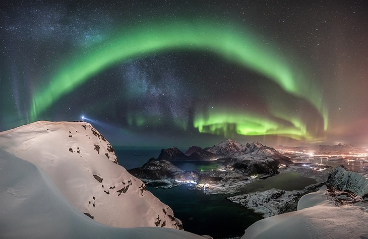 Photographs awarded Winner, Runner Up and Highly Commended in the Insight Investment Astronomy Photographer of the Year Competition 2019 organized by the Royal Observatory Greenwich, Winner, Category Aurorae, The Watcher, by Nicolai Brügger
