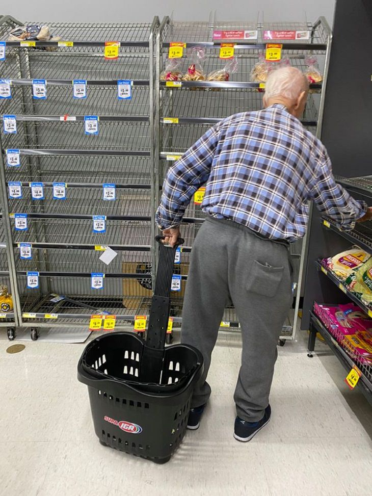 helping Seniors In The Coronavirus Scare, Supermarket
