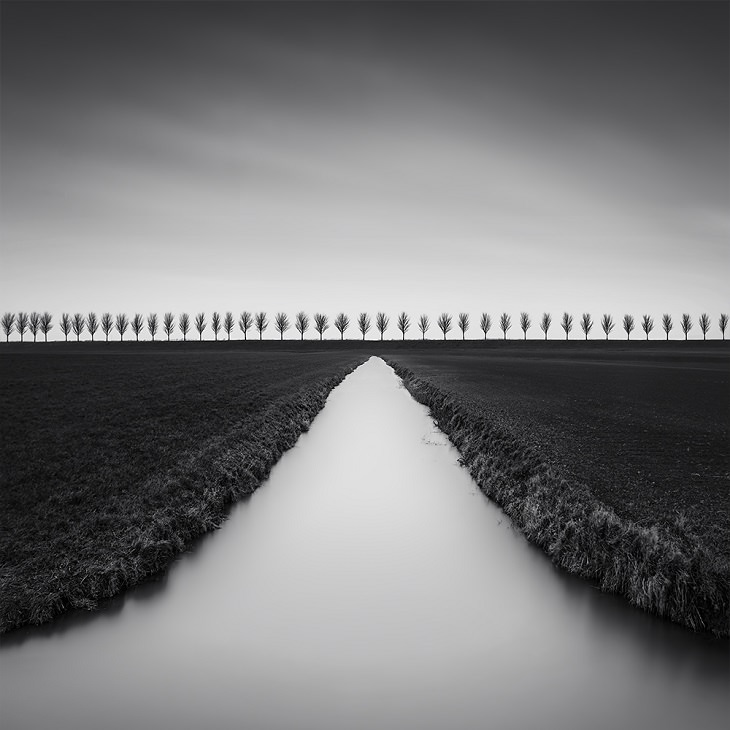 Vencedores de diferentes categorias dos 2019 Fine Arts Photography Awards, Categoria Paisagem, Vencedores Amadores, 1º Lugar, Gold Award, Dutch Polder (Series), por Marco Maljaars