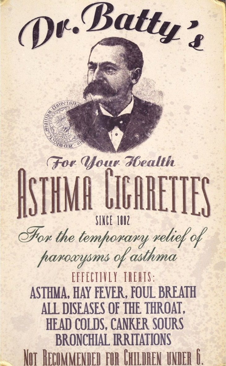 Asthma Cigarettes Bizarre Medical Practices