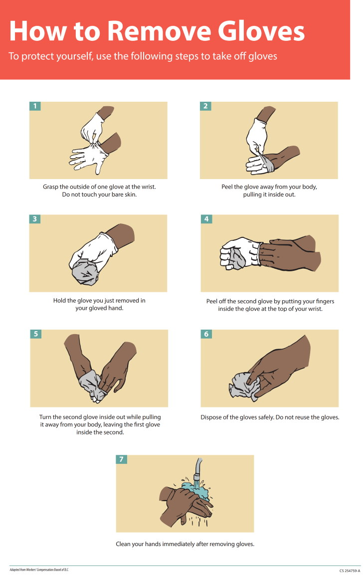 How To Remove and Dispose of the Gloves Safely
