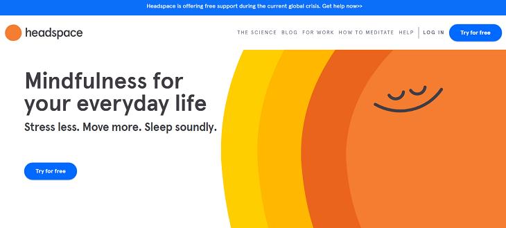 Headspace, app, stress