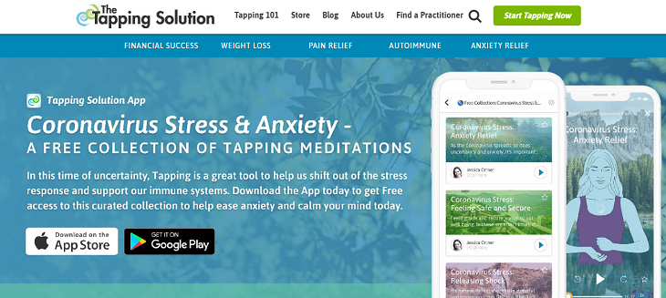 The Tapping Solution, app, stress