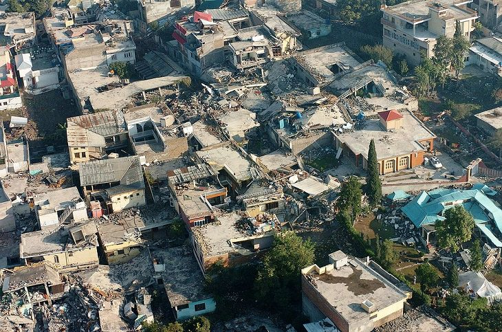 The deadliest and worst natural disasters to strike different countries across the world between 2005 and 2020 and the relief and recovery efforts, Pakistan, Kashmir Earthquake, 8th October, 2005, Jammu and Kashmir