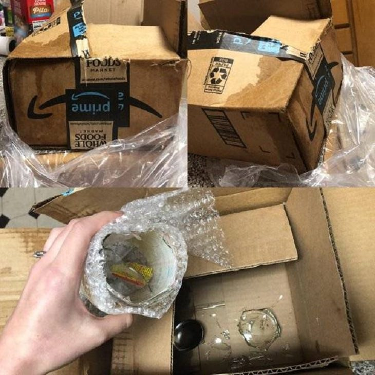 Hilariously frustrating and disappointing delivery disasters and packaging fails