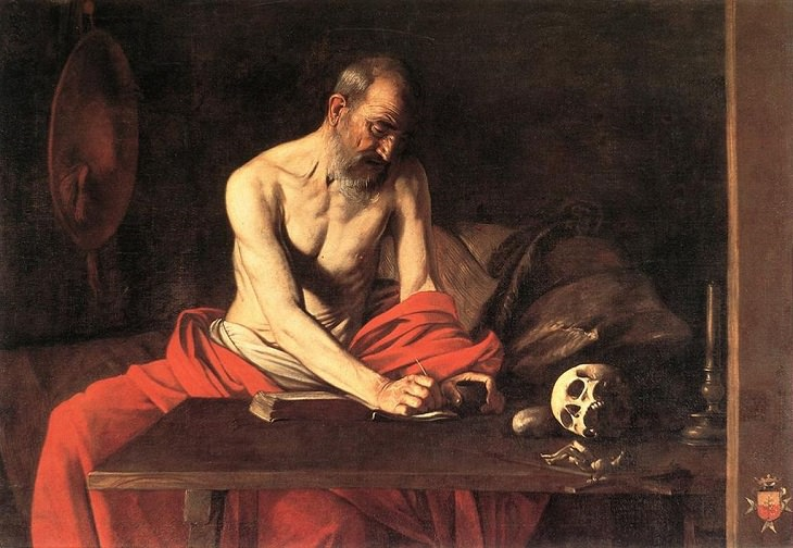 Famous works of art and paintings from all over the world that were stolen and either recovered, destroyed or remain lost or missing, Saint Jerome Writing, by Michelangelo Merisi da Caravaggio