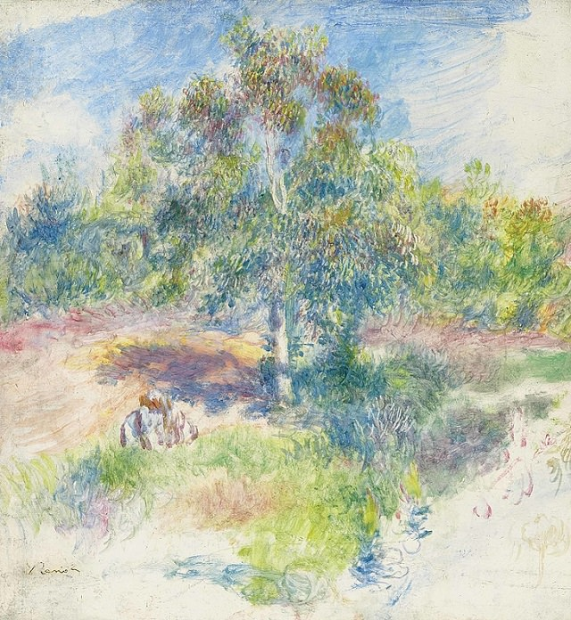 Famous works of art and paintings from all over the world that were stolen and either recovered, destroyed or remain lost or missing, La Clairière by Auguste Renoir