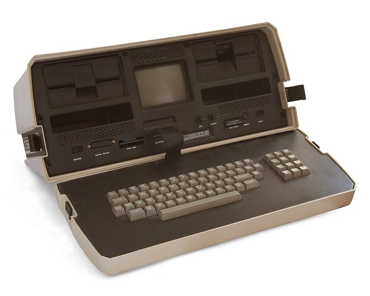 A history of laptops designed as portable computers and micro computers from the 1970's onward, The Osborne 1