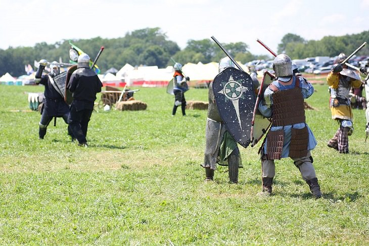 Unusual, weird differemt Sports from around the world, SCA Armored Combat, Europe