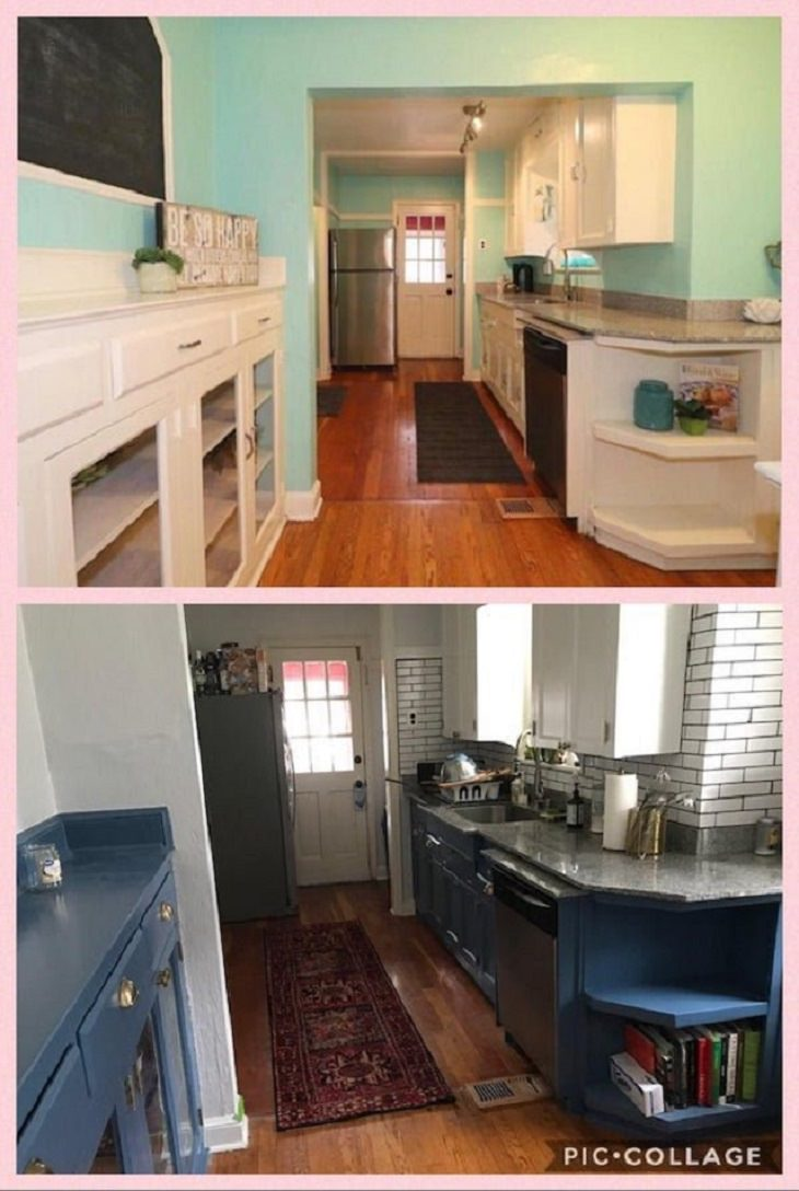 Before and After photographs of incredible budget and DIY home renovations