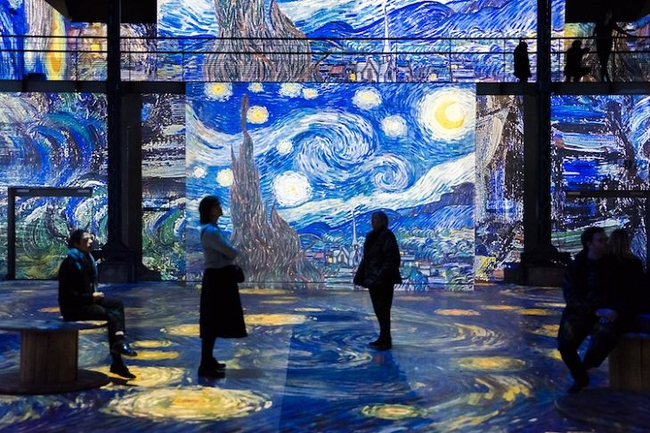 10 best works of art inspired by technology of 2019, Starry Night Exhibition By Culturespaces