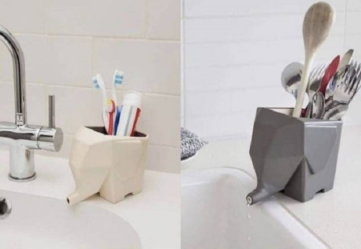 Unique and beautiful designs, toothbrush with a drain