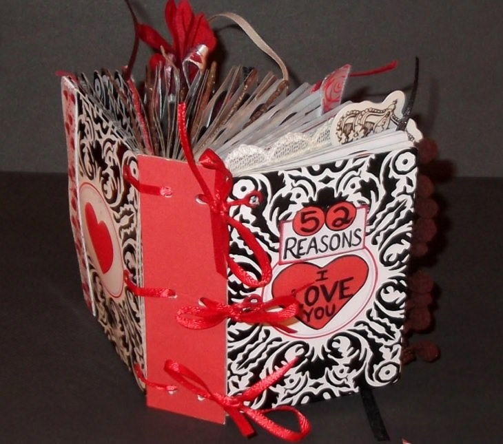 Fun and Easy DIY Arts and Crafts anyone can make at home with Playing Cards, 52 reasons i love you book, lisa's craft blog