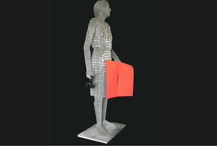 Esculturas Hechas a Base De Clips De Papel  Mira Stiram