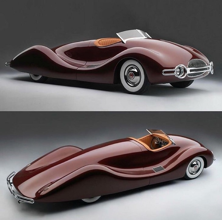 Unique, strange, bizarre and weirdly designed cars from major car companies throughout history, 1948 Norman Timbs Special (Destroyed in 2018)