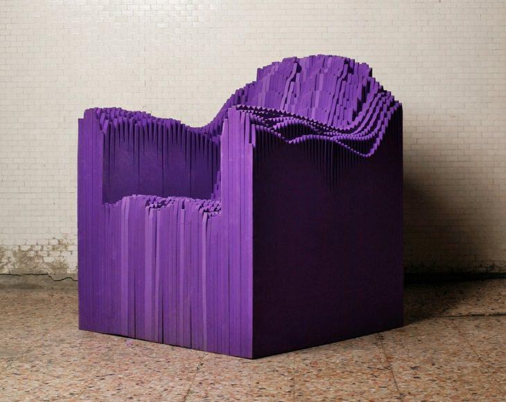 3-D printed art work from Artist Matthew Plummer Fernandez, Sound Chair