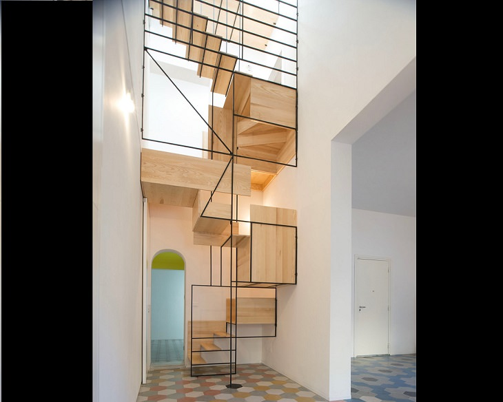 Unique and creative stair, staircase, stairwell designs for dream homes, Bespoke Wooden Cubism Staircase by Francesco Librizzi