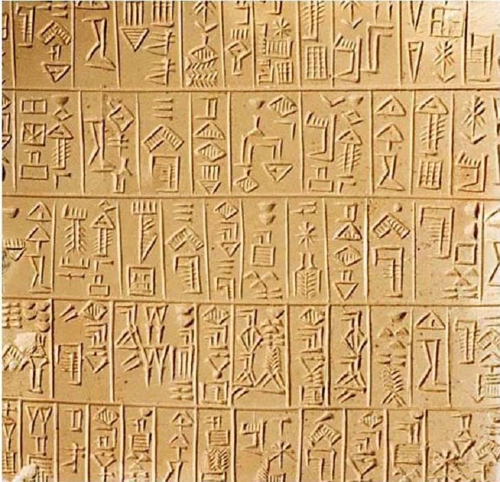 sumerian cuneiform script