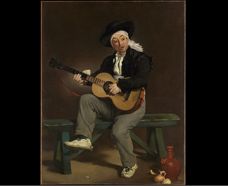 Collected works of 19th Century French Impressionist and modernist painter Édouard Manet, The Spanish Singer, 1860