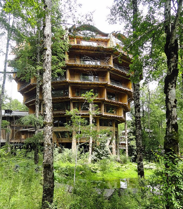 Most incredible and beautiful treehouses and treehotels from around the world,Nothofagus Hotel, the heart of Huilo Huilo Biological Reserve, Chile
