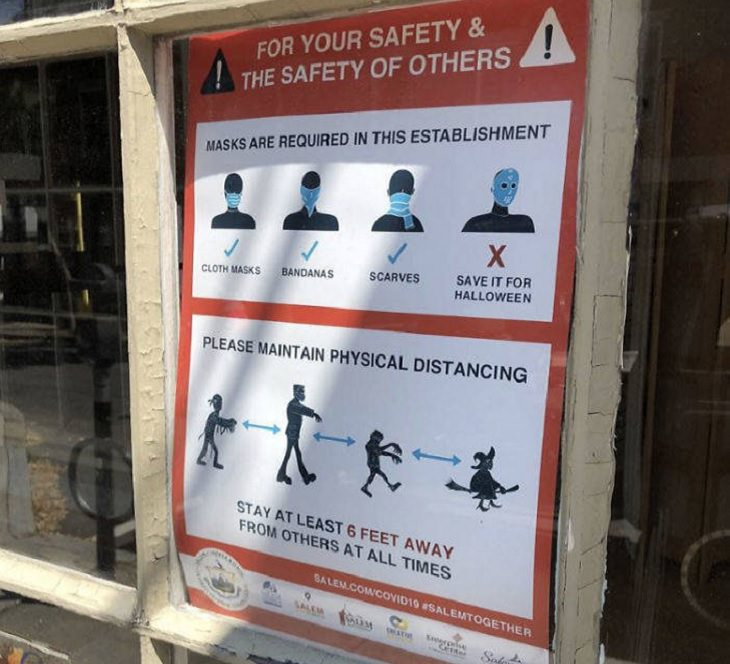 Hilarious COVID-19 coronavirus signs for wearing masks and washing hands, found in and outside of shops and establishments