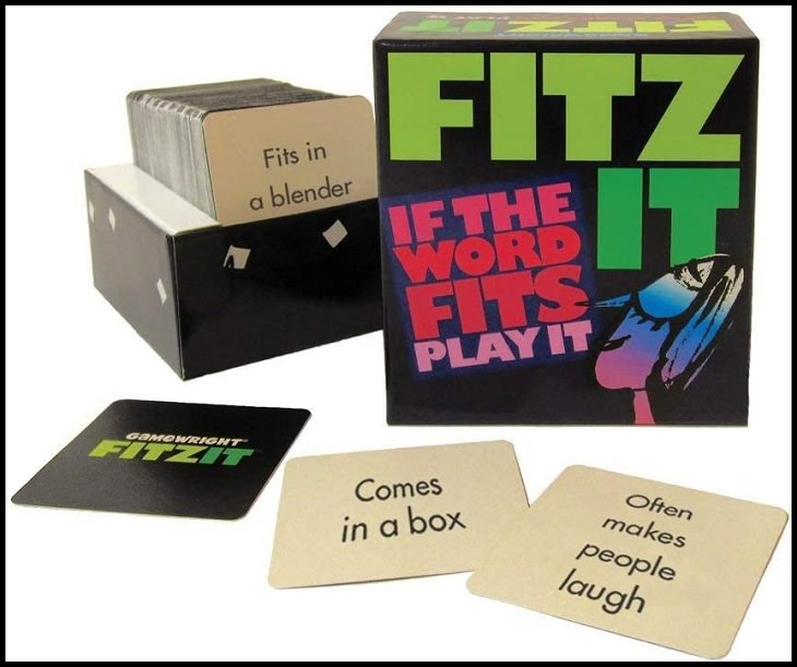 Fun word-play family board games with rhymes, puns and bad jokes, 'Fitz It: If The Word Fits Plays It'