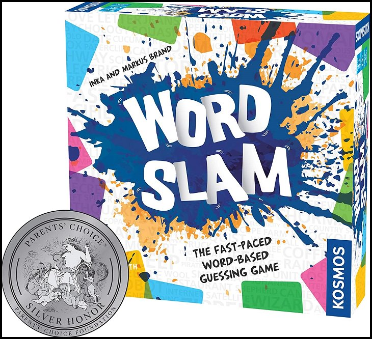 Fun word-play family board games with rhymes, puns and bad jokes, Word Slam: The Fast Paced Word-Based Guessing Game