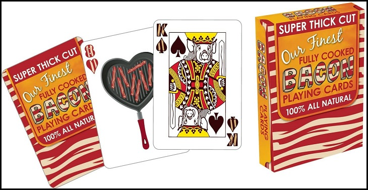 Beautiful, Bizarre, Funny, Unique and Custom-Designed Decks of Playing Cards, Bacon Playing Cards