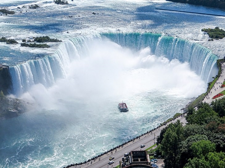 Sights, trails, cruises, activities, natural wonders and fun family events found at Niagara Falls between New York, United States and Ontario, Canada, Horseshoe Falls, in Niagara Falls, Ontario