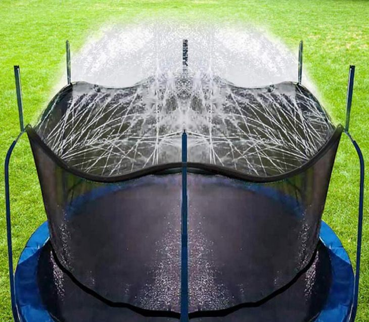 Ingenious and must-have garden gadgets, devices and items, The trampoline sprinkler