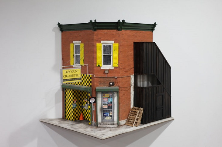 Miniatures Models of Old Buildings in Philadelphia By Drew Leshko, Discount Cigarettes
