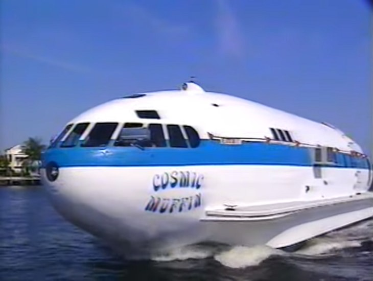 Unique and bizarre designs for boats, watercrafts, ships, yachts and other water vehicles, The Cosmic Muffin