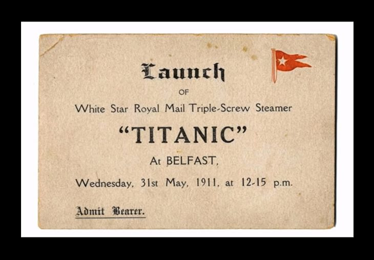 Highest valued items and memorabilia that survived the sinking of the RMS Titanic, Passenger Launch/Admission Ticket for the Titanic, $48,000 (£30,000 at the time)