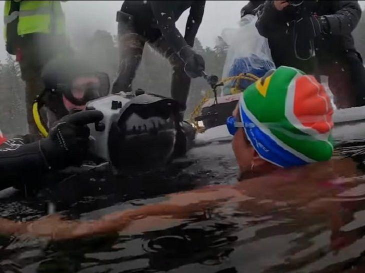 Guinness World Records broken in 2020, ice swim