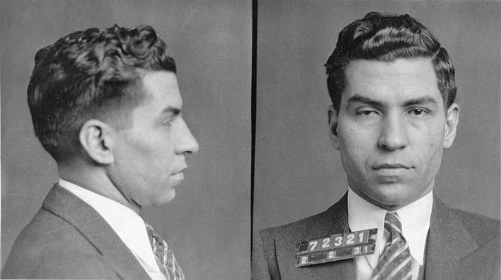 Most notorious mobsters and gangsters in organized crime, Charles Lucky Luciano, father of modern organized crime in America
