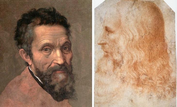 Greatest rivalries in art history, Michelangelo and Leonardo Da Vinci